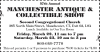 57 Annual MANCHESTER ANTIQUE SHOW