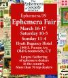 Ephemera Society of America Ephemera Fair