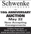 Schwenke 10th Anniversary Auction