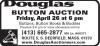 Douglas BUTTON AUCTION