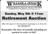 William J. Jenack Retirement Auction