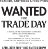 TRADERS, BARTERERS & PURVEYORS WANTED FOR TRADE DAY