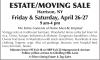 Harrison, NY ESTATE/MOVING SALE