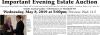 William Smith Important Evening Estate Auction