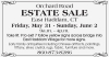 ESTATE SALE East Haddam, CT