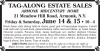 TAG-ALONG ESTATE SALES Armonk, NY MIDCENTURY HOME