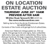 Gary R. Wallace ON LOCATION ESTATE AUCTION
