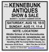 91st Annual KENNEBUNK ANTIQUES SHOW & SALE