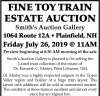 William A. Smith FINE TOY TRAIN ESTATE AUCTION