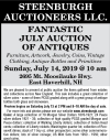 STEENBURGH AUCTIONEERS LLC. FANTASTIC JULY AUCTION OF ANTIQUES