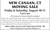 NEW CANAAN, CT MOVING SALE