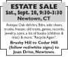 Newtown, CT ESTATE SALE