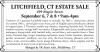 LITCHFIELD, CT ESTATE SALE by SK Estate Sale