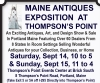 MAINE ANTIQUES EXPOSITION AT THOMPSON'S POINT
