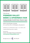 15th Annual PIONEER VALLEY BOOK & EPHEMERA FAIR