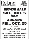 Roland Auctioneers Dr Alan York Estate Sale