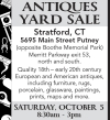 Stratford, CT ANTIQUES YARD SALE
