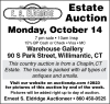 E.S. Eldridge Estate Auction