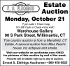 E.S. Eldridge Estate Auction