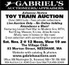 Gabriel's Toy Train Auction