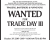TRADERS, BARTERERS & PURVEYORS WANTED FOR TRADE DAY III
