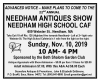 22nd Annual NEEDHAM ANTIQUES SHOW