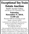 William A. Smith Exceptional Toy Train Estate Auction