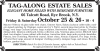 Rye Brook, N.Y. Estaste Sale by Tag-Along Estate Sales
