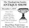Thanksgiving Sunday ANTIQUE SHOW & SALE