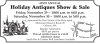42ND ANNUAL Holiday Antiques Show & Sale