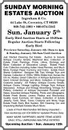 Ingraham & Co. Sunday Morning Estates Auction
