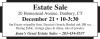 Estate Sale 20 Homestead Avenue, Danbury, CT