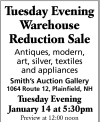 William A. Smith Warehouse Reduction Sale
