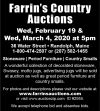 Farrin's Country Auctions