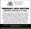 Roland Auctions February 2020 Auction