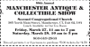 CANCELLED 58th Annual Manchester Antique & Collectible Show