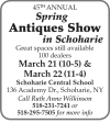 CANCELLED 45th Spring Antiques In Schoharie