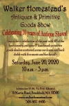 Walker Homestead's Antiques & Primitive Goods Show