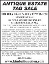 Kimball's ANTIQUE ESTATE TAG SALE