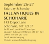 CANCELED FALL ANTIQUES IN SCHOHARIE