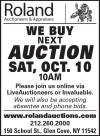 Roland Auctioneers' Next Auction