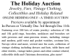 December Auctions At Smith's: The Holiday Online Auction