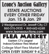 Leone's  ESTATE AUCTIONS EVERY OTHER FRIDAY