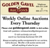 Golden Gavel Weekly Online Auctions