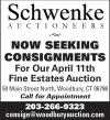 Schwenke Auctioneers Seeking Consignments