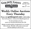 Golden Gavel Weekly Online Auctions
