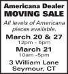 Americana Dealer Moving Sale