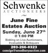 Schwenke Auctioneers June Fine Estates Auction