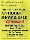 Fitzwilliam Historical Society 45th Annual Antiques Show & Sale Cancelled