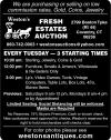 Weston's Fresh Estates Auction